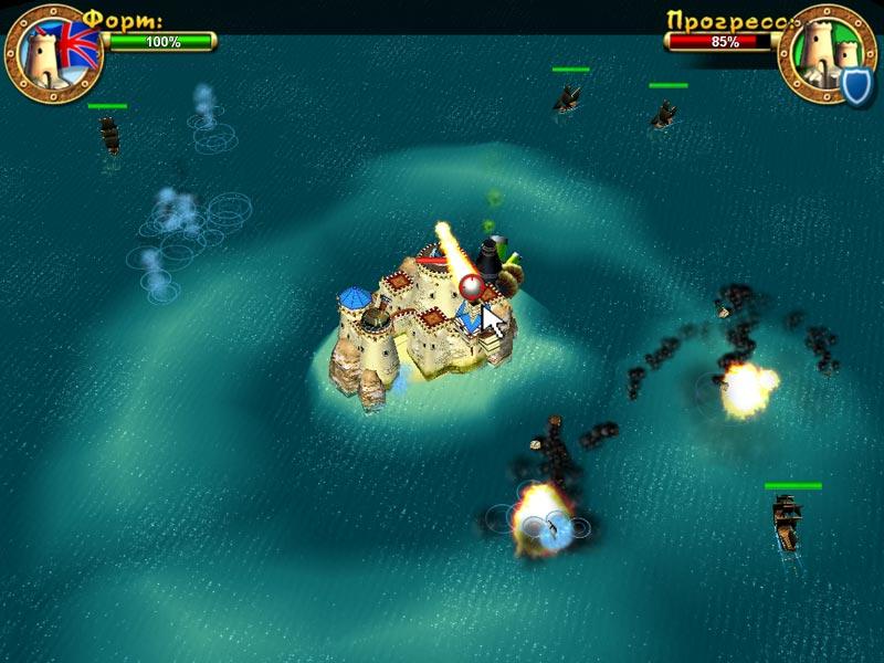 Скриншот №2. Пираты. Битва за Карибы