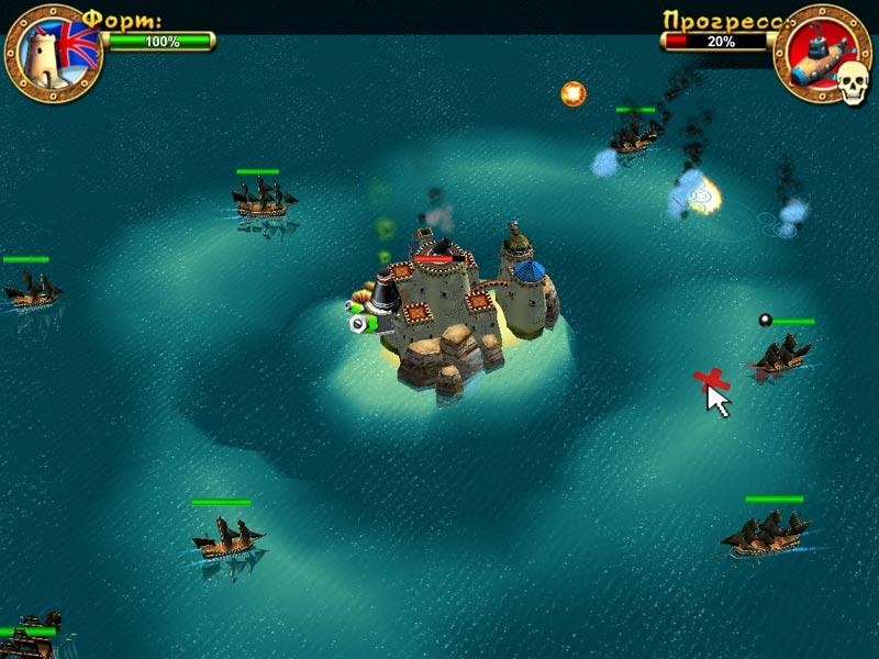 Скриншот №3. Пираты. Битва за Карибы